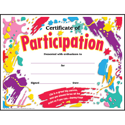 Free Certificate Of Participation Template Certificate Of – Certificate of Participation Template