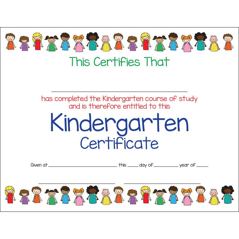Kindergarten Awards Certificates: Kindergarten Certificate